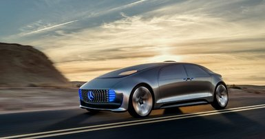 Skype or sip champers in a self-driving Merc