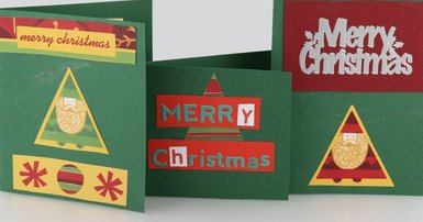 Self-absorption tests Christmas cards tradition