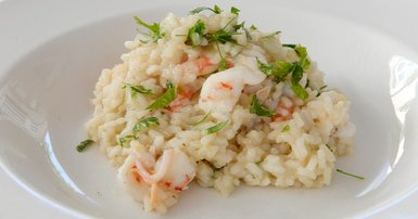 Risotto with lemon and prawns